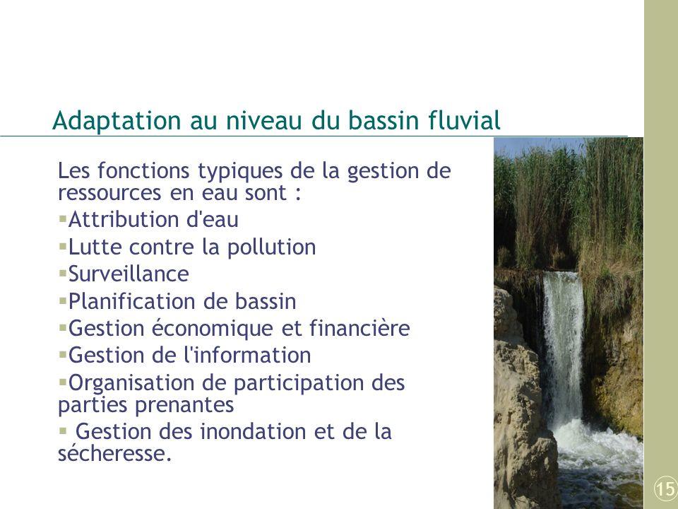 Adaptation au niveau du bassin fluvial
