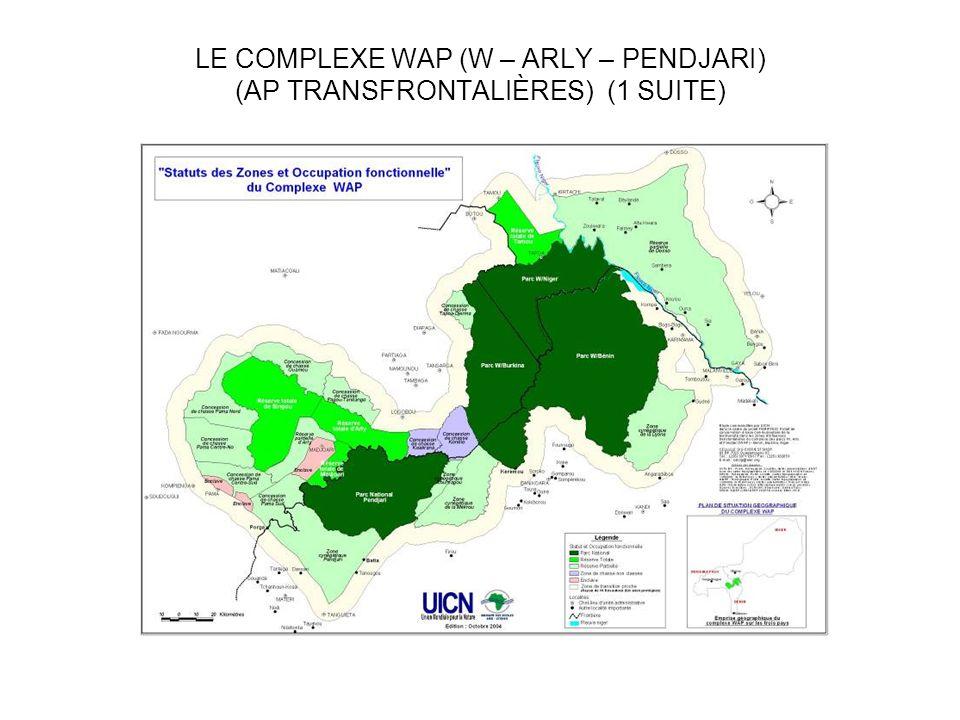 LE COMPLEXE WAP (W – ARLY – PENDJARI) (AP TRANSFRONTALIÈRES) (1 SUITE)