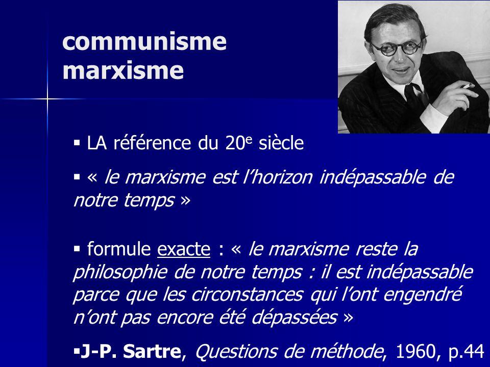 communisme marxisme LA référence du 20e siècle