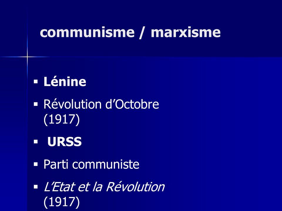 communisme / marxisme Lénine Révolution d'Octobre (1917) URSS