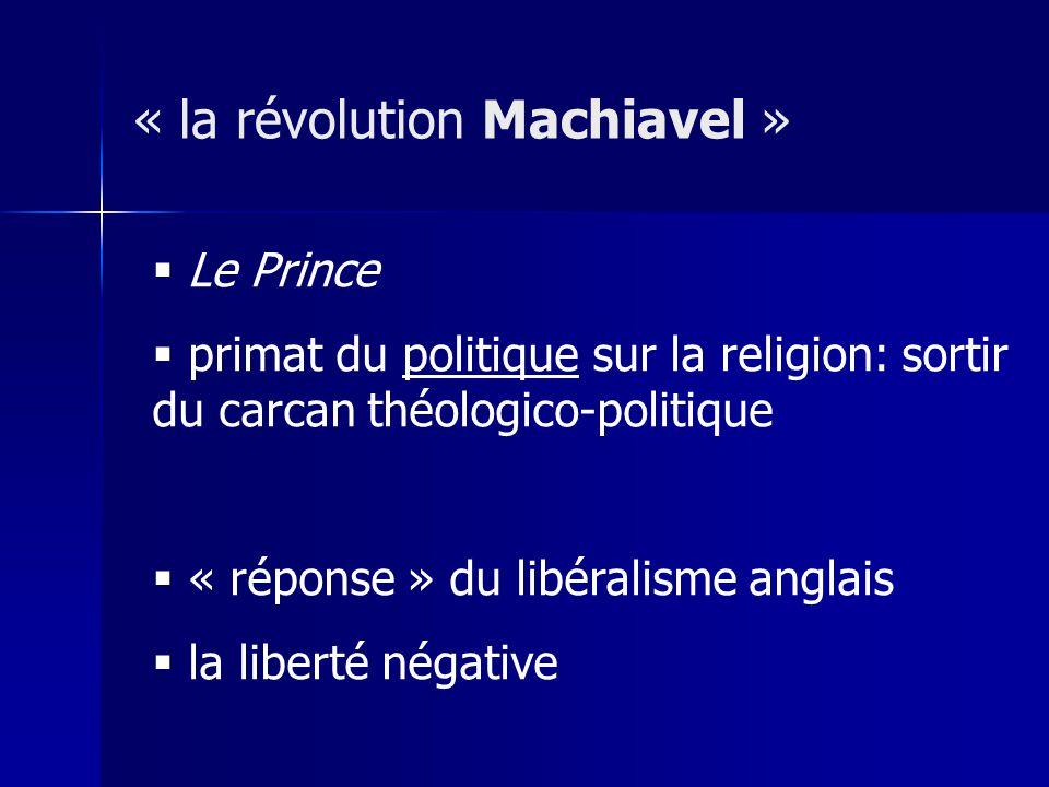 « la révolution Machiavel »