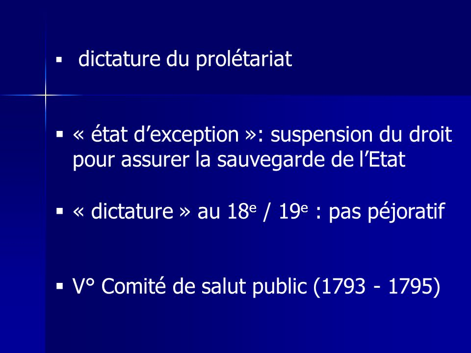 « dictature » au 18e / 19e : pas péjoratif