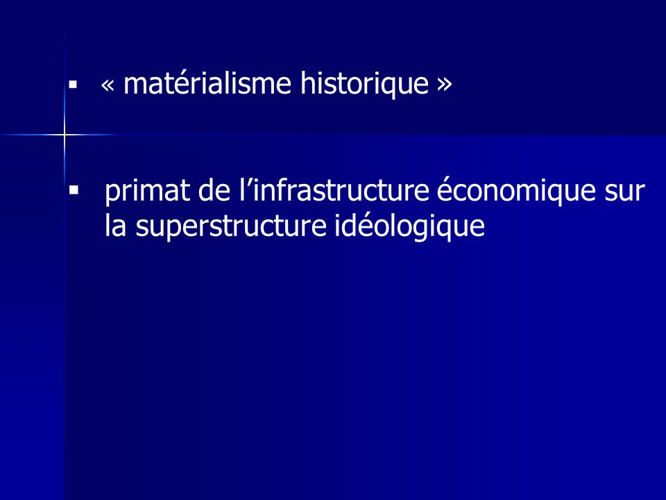 « matérialisme historique »