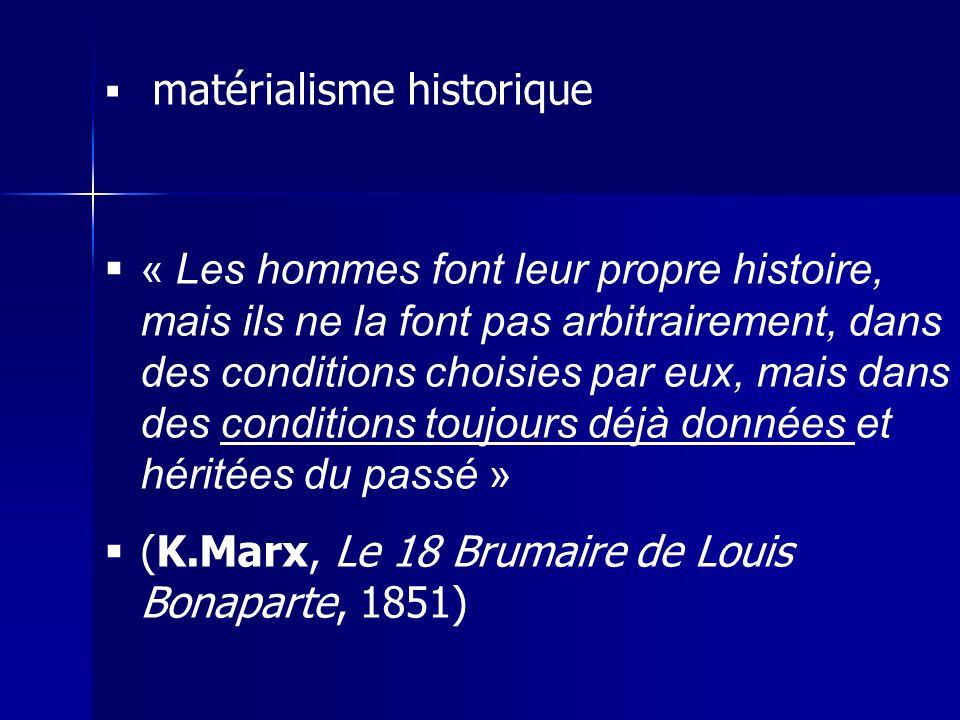 (K.Marx, Le 18 Brumaire de Louis Bonaparte, 1851)