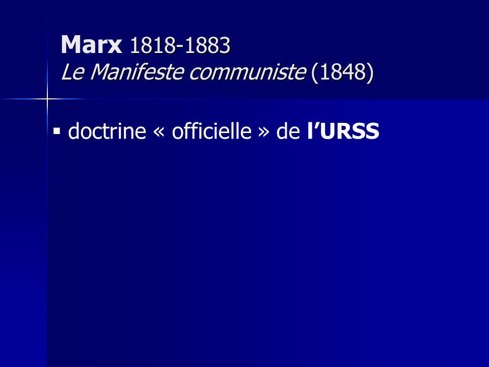 Marx 1818-1883 Le Manifeste communiste (1848)