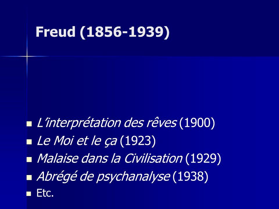 Freud (1856-1939) L'interprétation des rêves (1900)