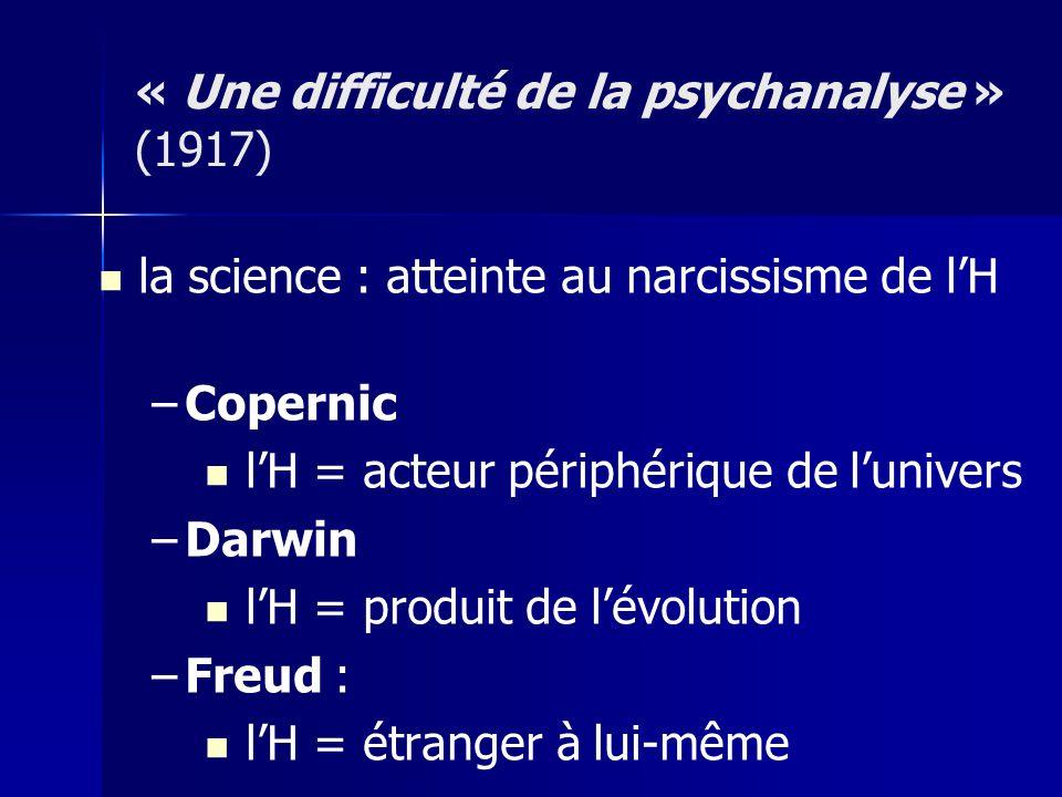 « Une difficulté de la psychanalyse » (1917)
