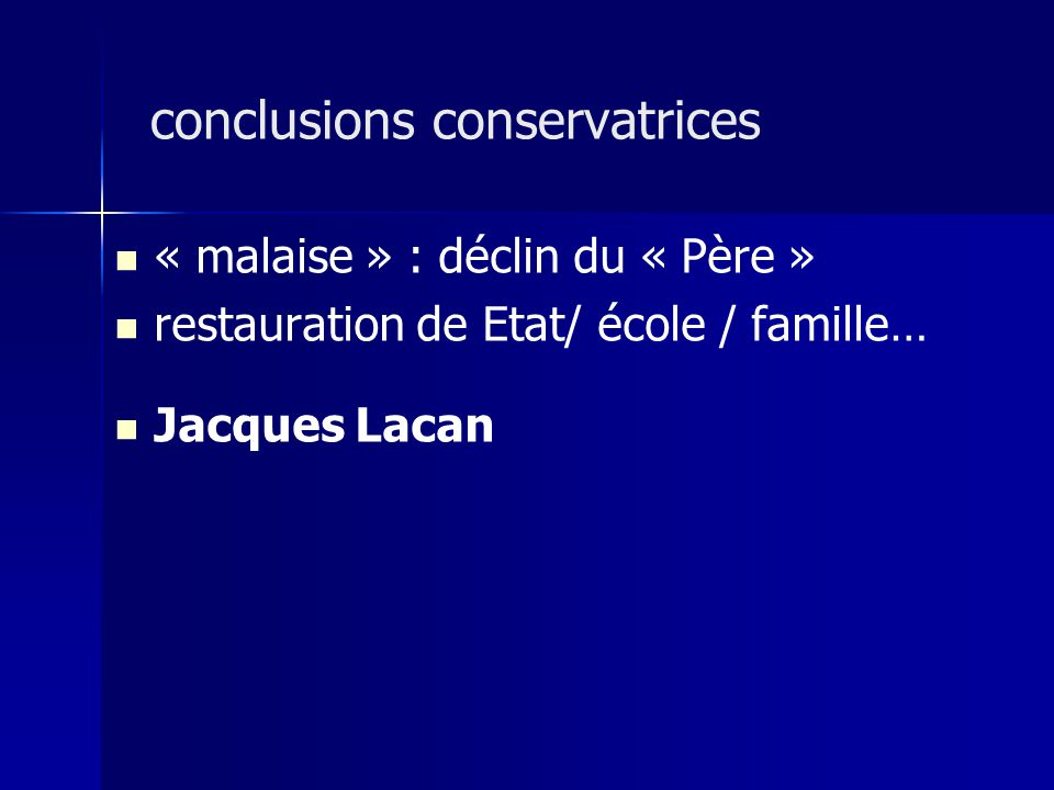 conclusions conservatrices