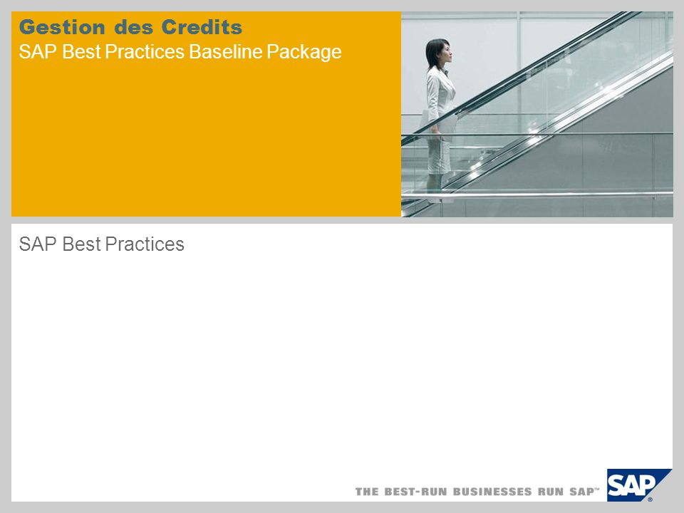 Gestion des Credits SAP Best Practices Baseline Package