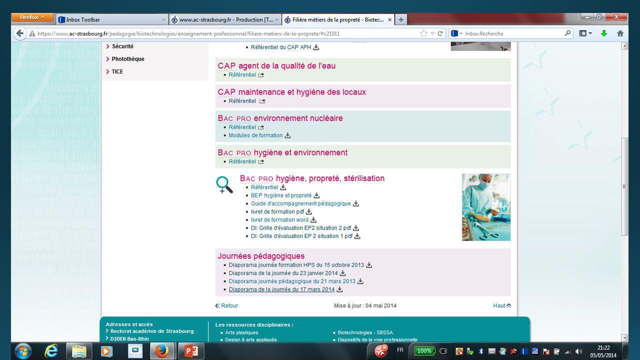 Diaporama Patricia Muller IEN/ET SBSSA Académie de Strasbourg