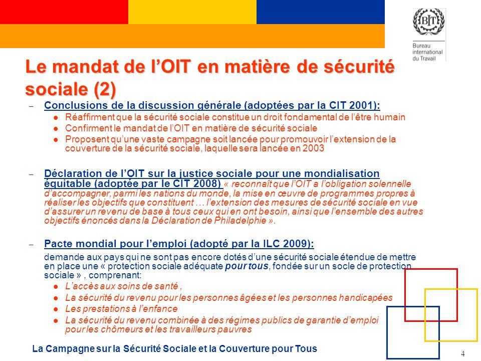 Le mandat de l'OIT en matière de sécurité sociale (2)