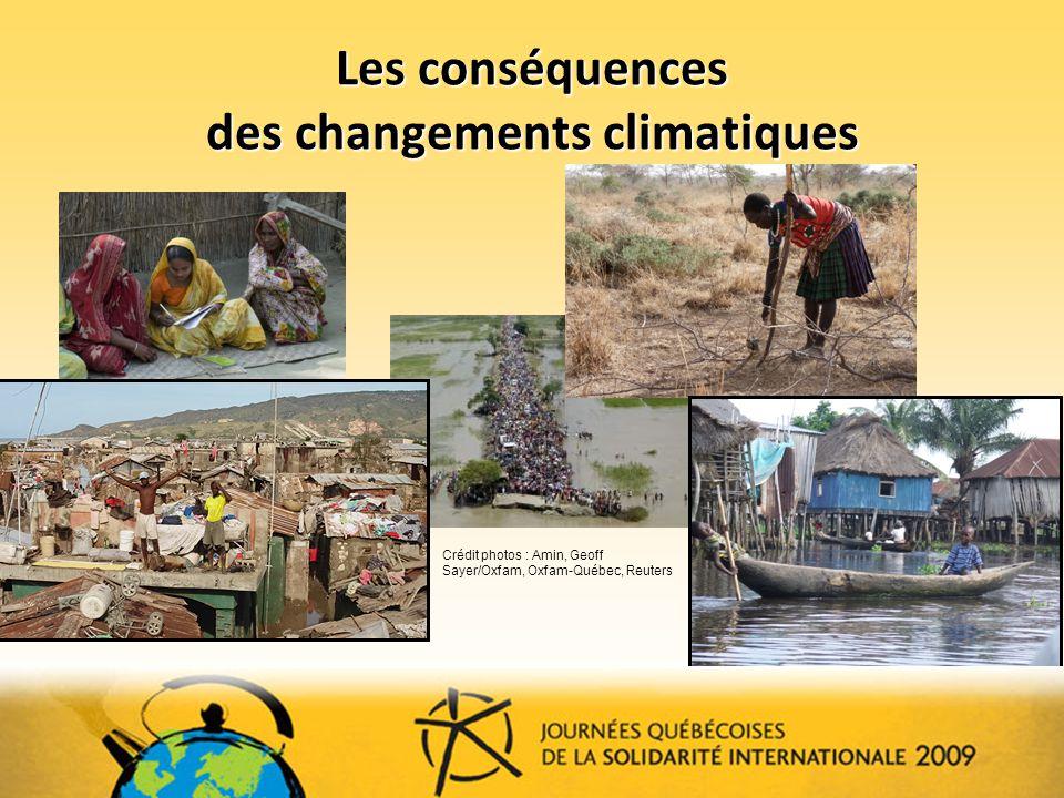 Les conséquences des changements climatiques