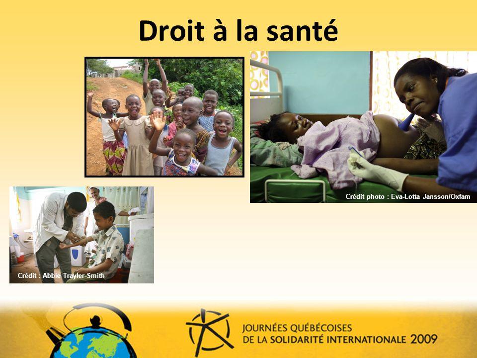 Droit à la santé Crédit photo : Eva-Lotta Jansson/Oxfam. Photos insalubrité, moustiques, épidémies lors de désastre.