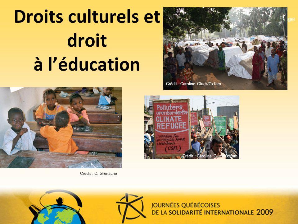 Droits culturels et droit à l'éducation