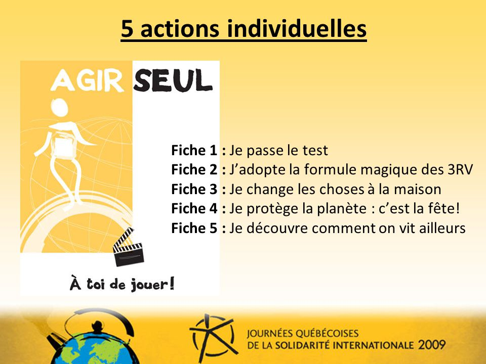 5 actions individuelles