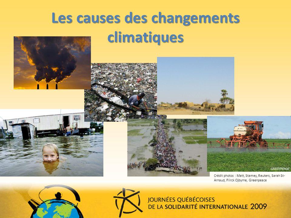 Les causes des changements climatiques