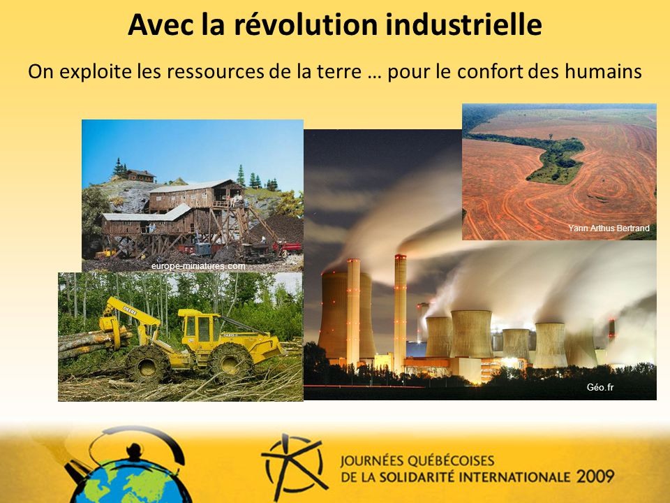 Avec la révolution industrielle