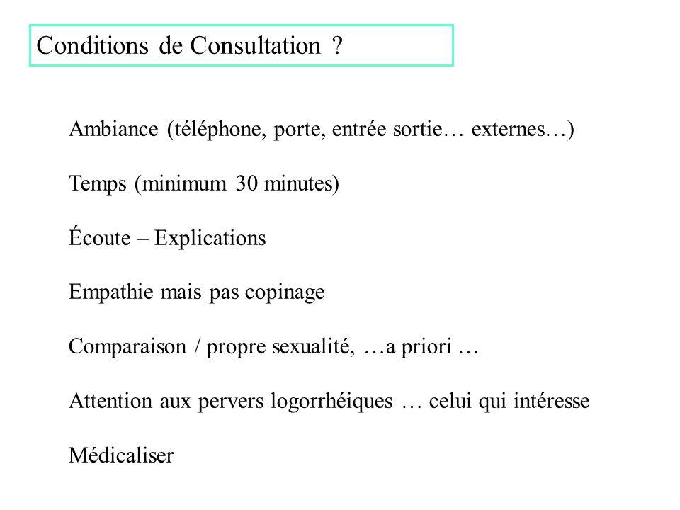 Conditions de Consultation