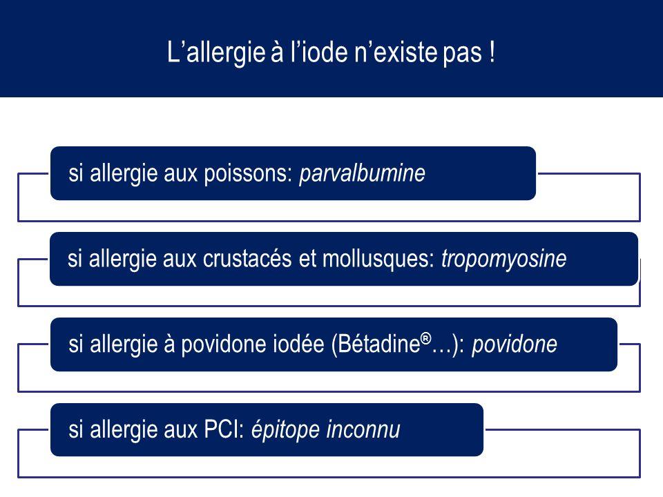 L'allergie à l'iode n'existe pas !