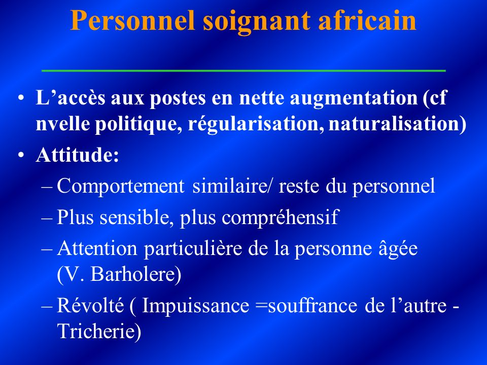 Personnel soignant africain ___________________________