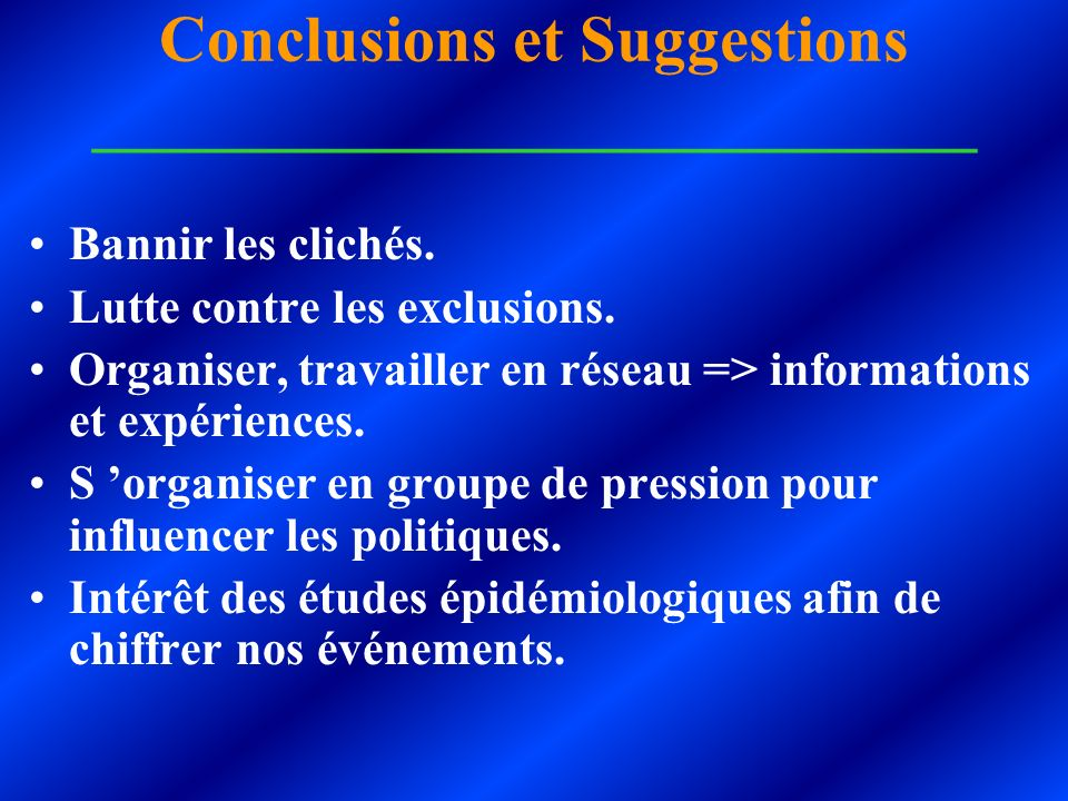 Conclusions et Suggestions ___________________________
