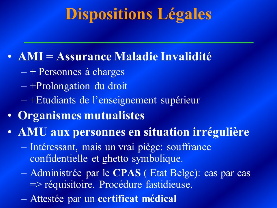 Dispositions Légales ___________________________