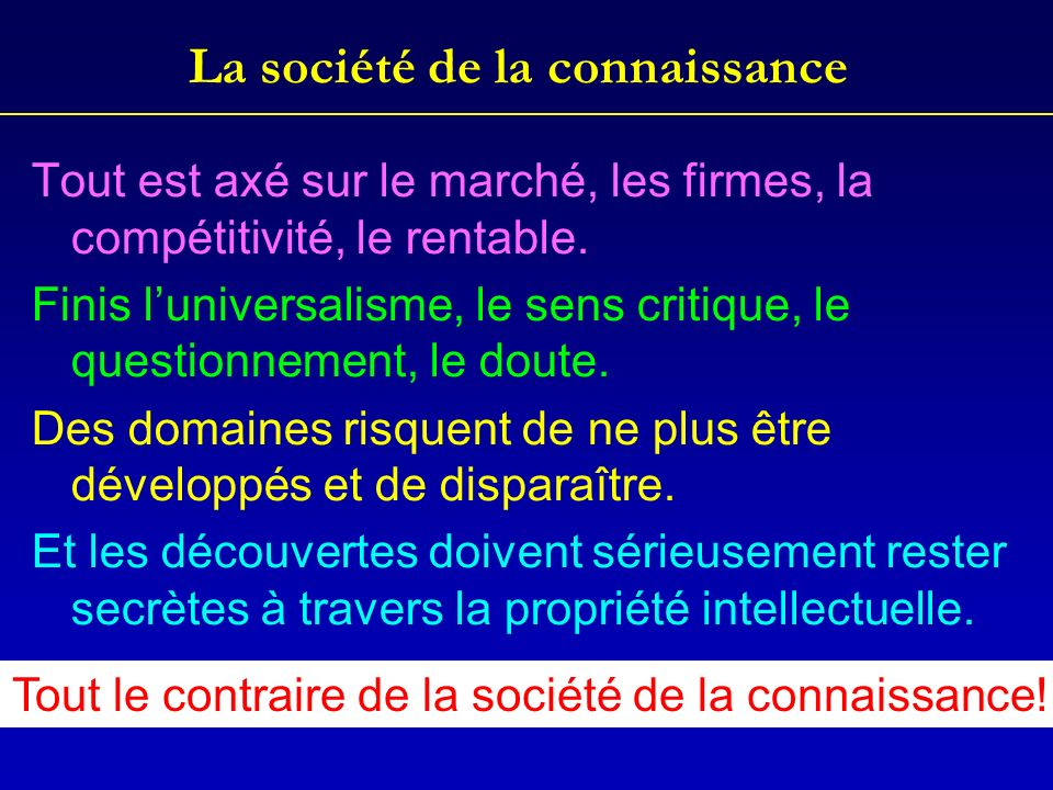 La société de la connaissance