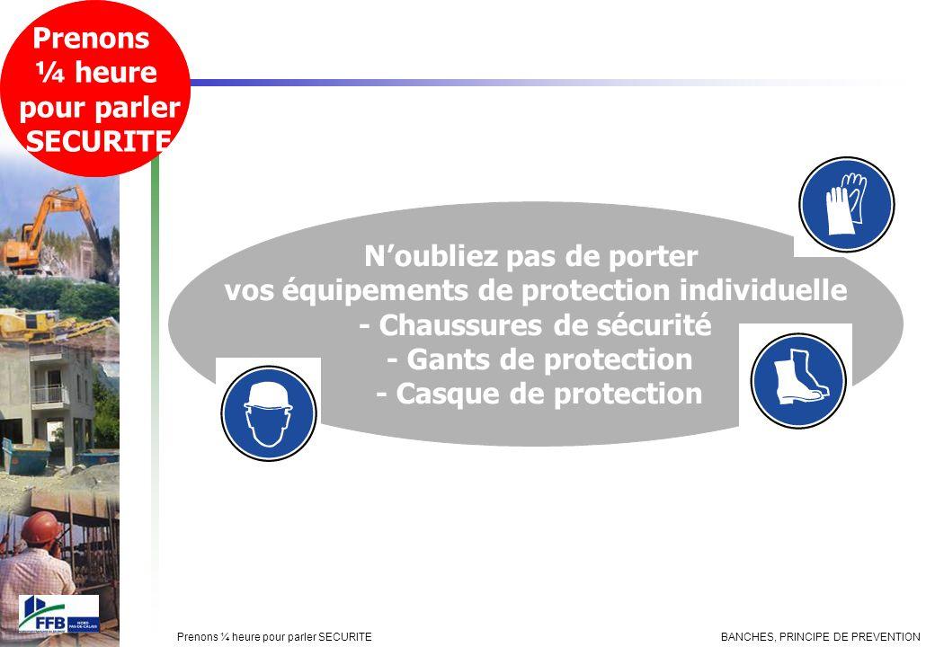 N'oubliez pas de porter vos équipements de protection individuelle