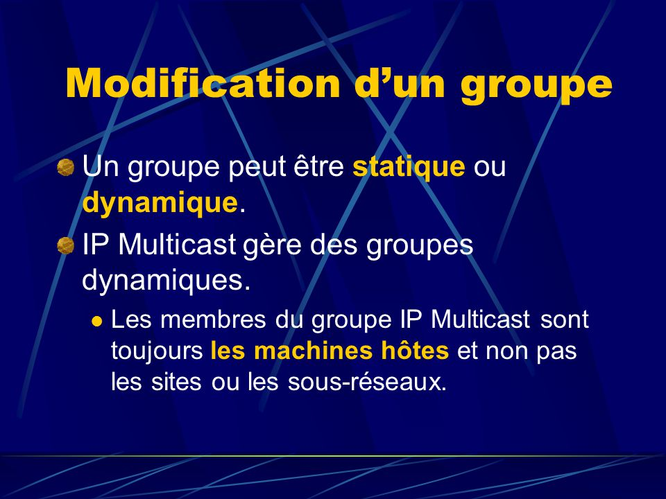 Modification d'un groupe