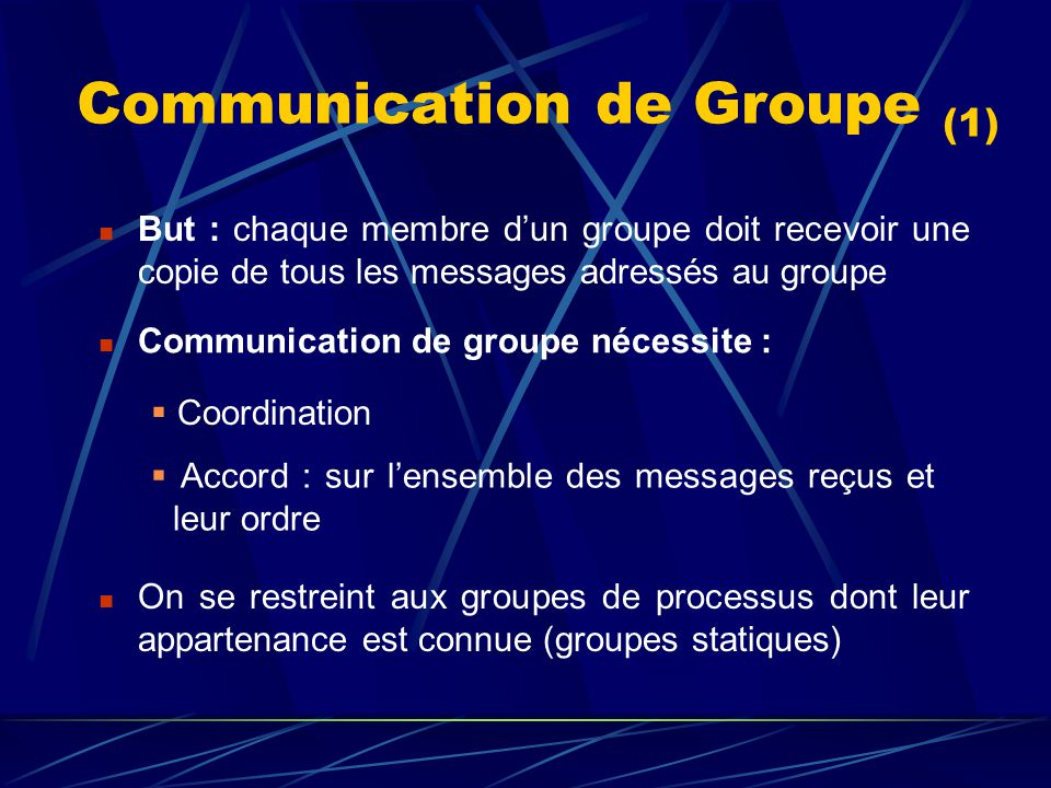 Communication de Groupe (1)
