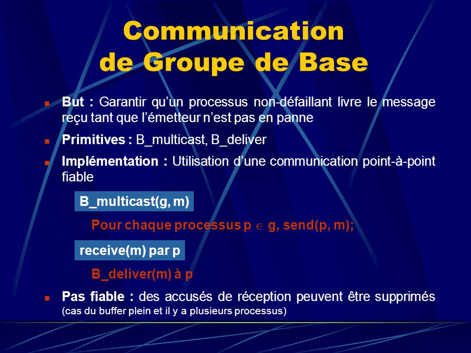 Communication de Groupe de Base