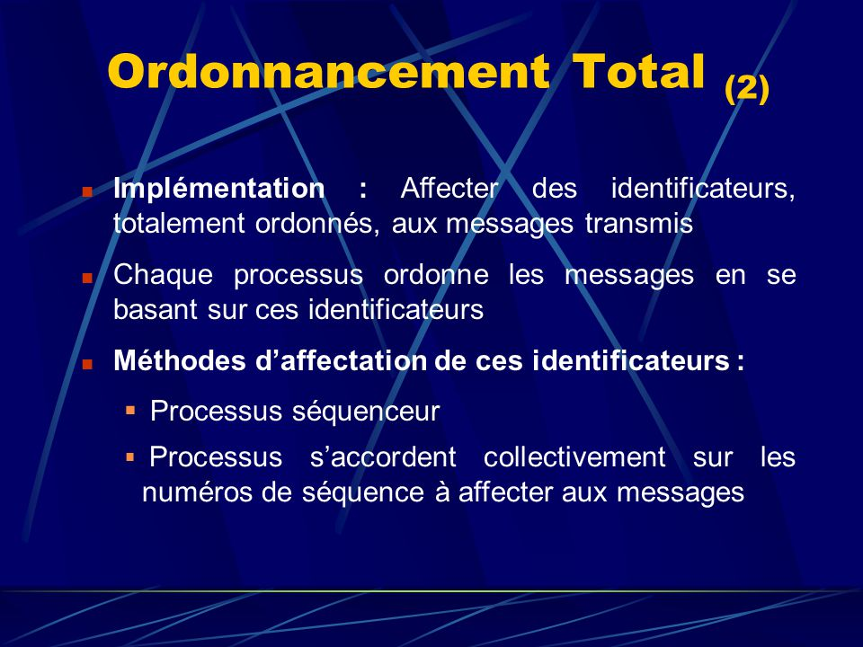 Ordonnancement Total (2)