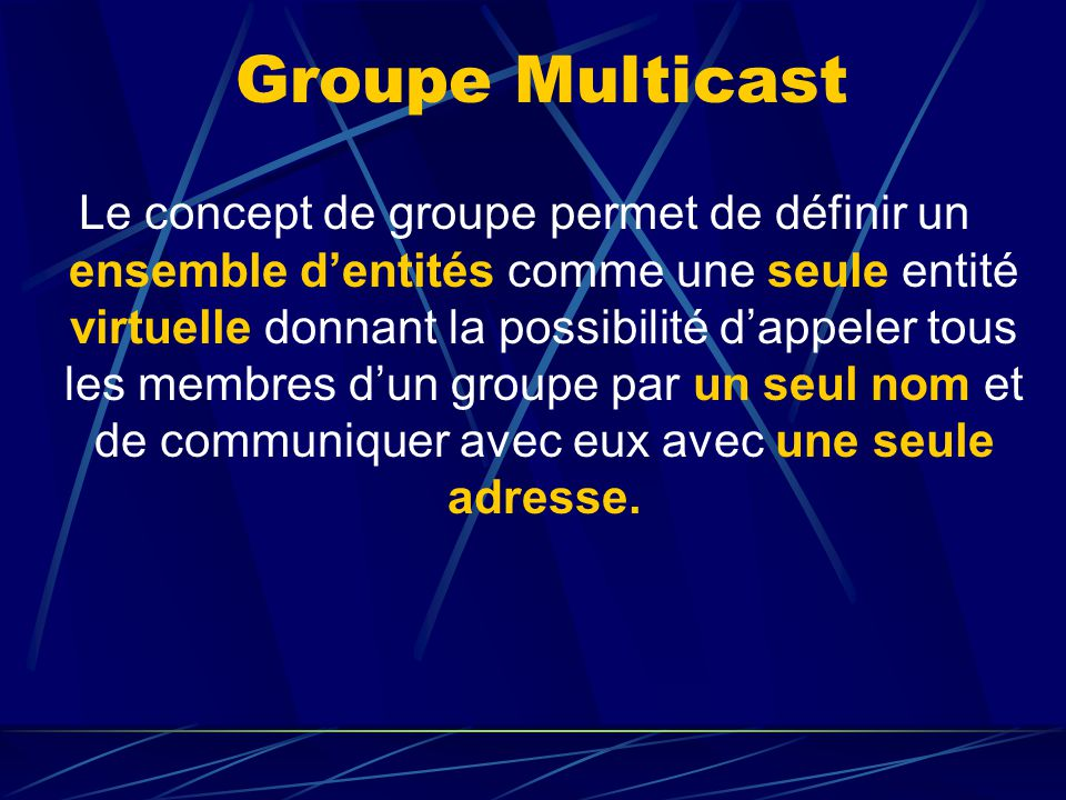 Groupe Multicast