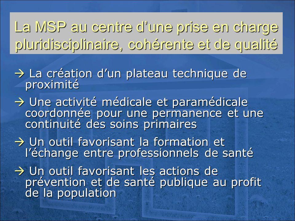 La MSP au centre d'une prise en charge pluridisciplinaire, cohérente et de qualité