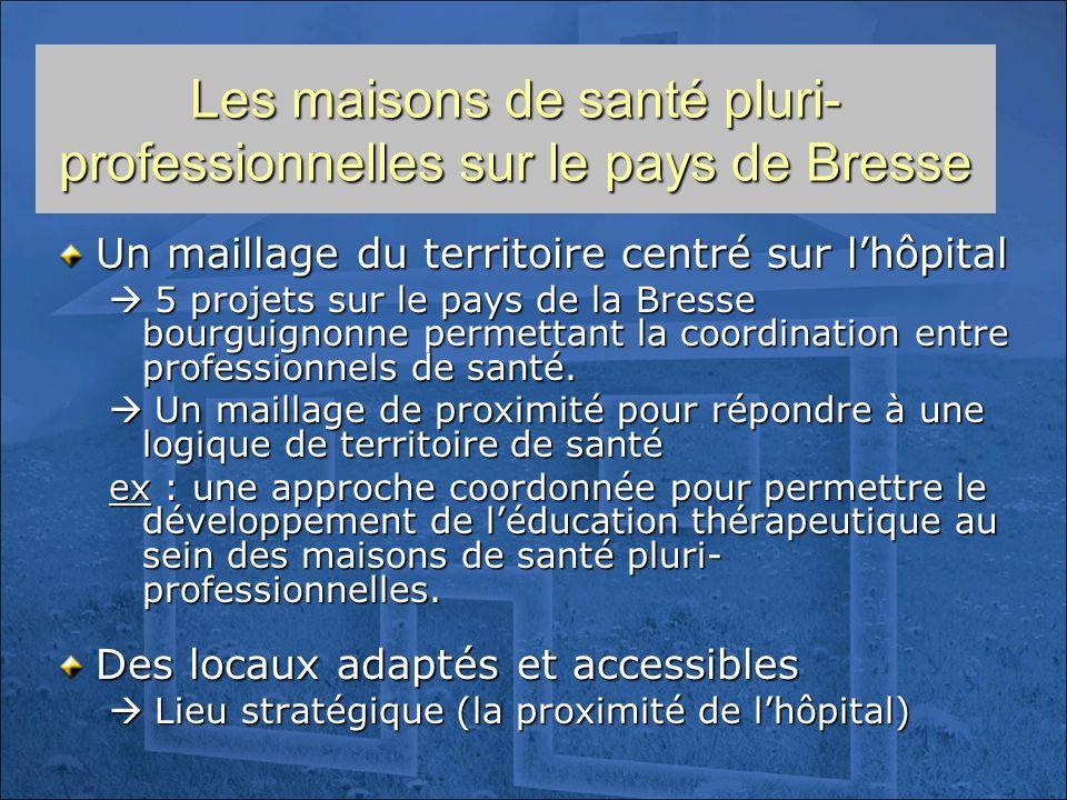 Les maisons de santé pluri-professionnelles sur le pays de Bresse