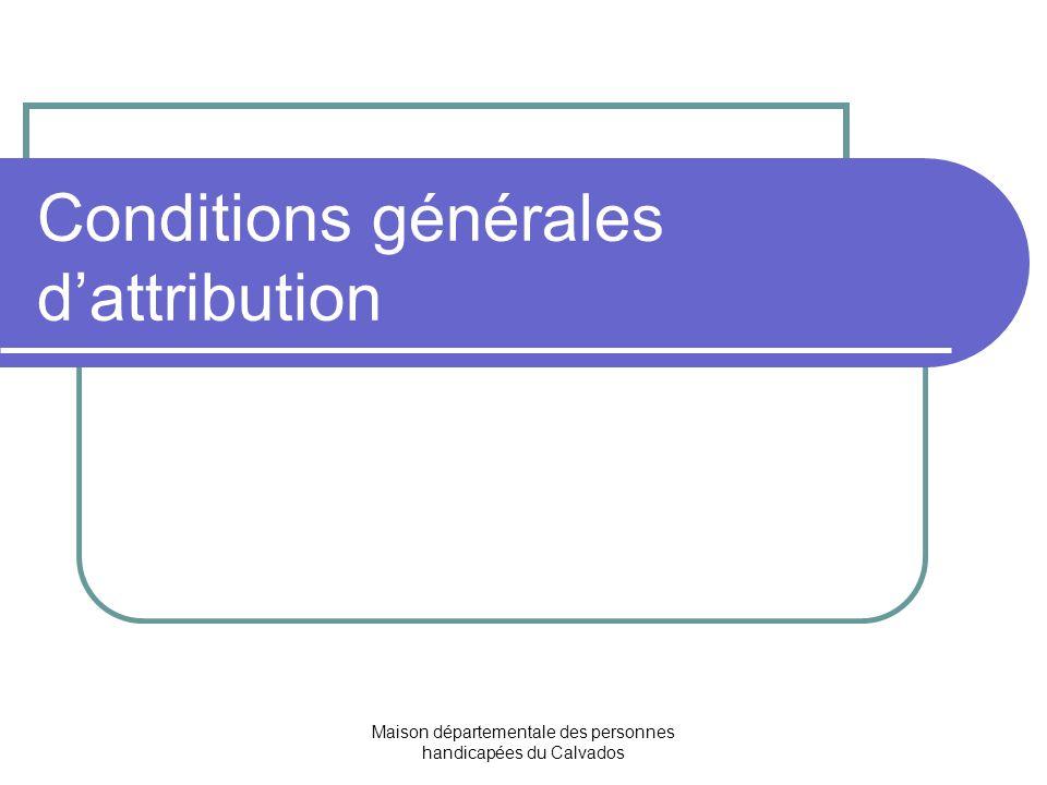 Conditions générales d'attribution