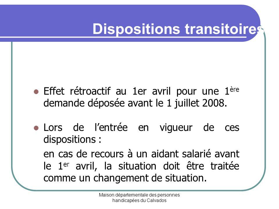 Dispositions transitoires