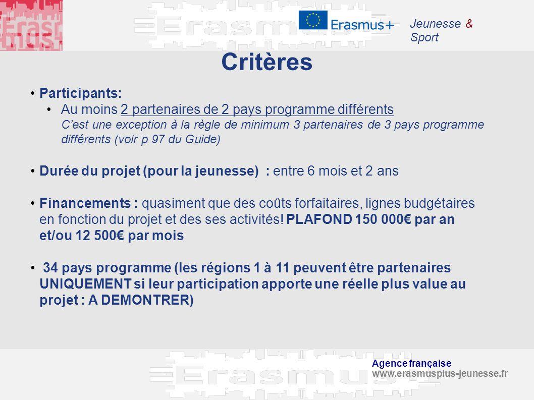 Critères Participants: