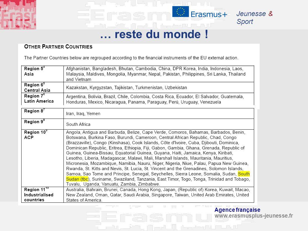 … reste du monde ! Jeunesse & Sport Agence française