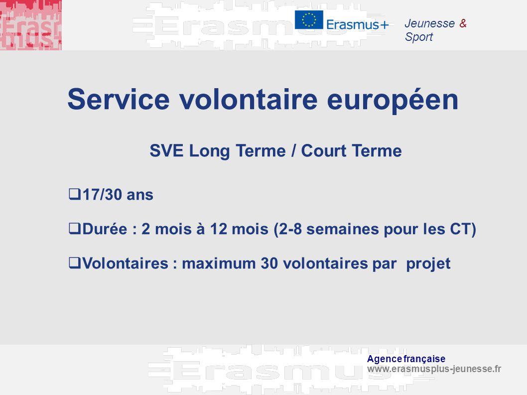 Service volontaire européen SVE Long Terme / Court Terme