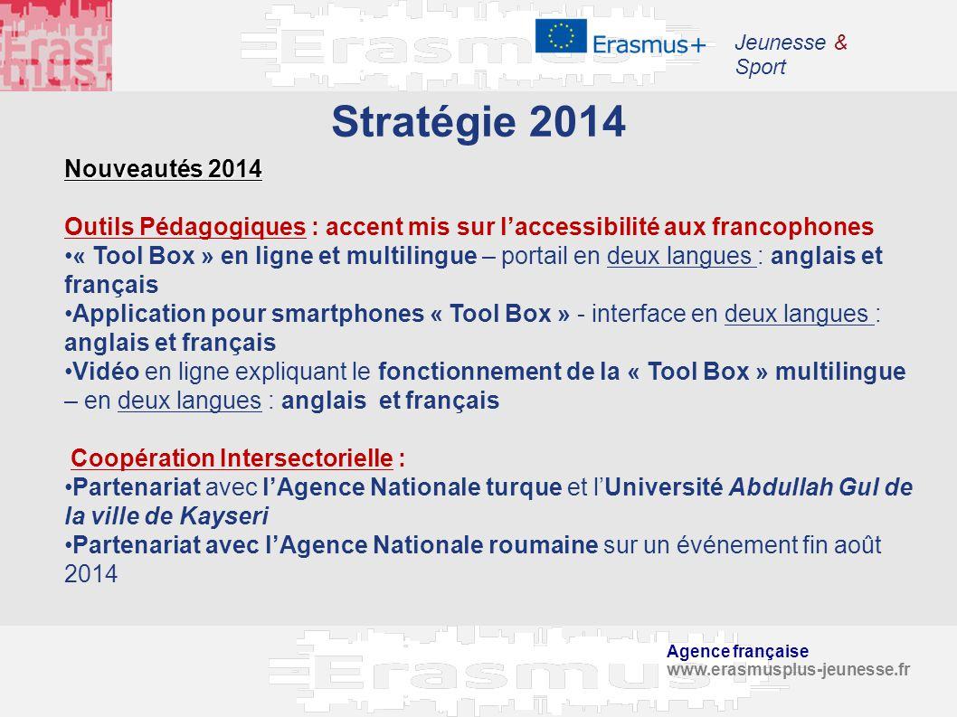 Jeunesse & Sport Stratégie 2014. Nouveautés 2014. Outils Pédagogiques : accent mis sur l'accessibilité aux francophones.