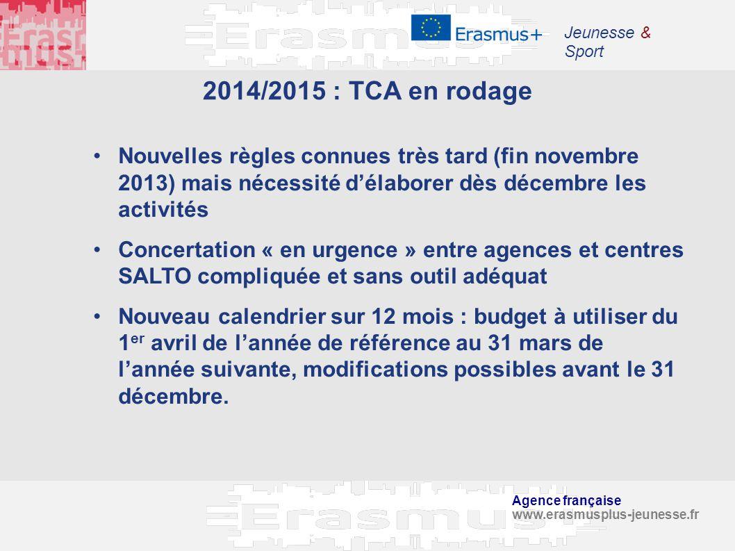 Jeunesse & Sport 2014/2015 : TCA en rodage.