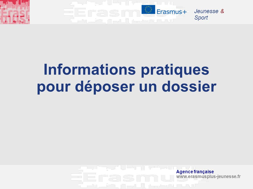 Informations pratiques pour déposer un dossier