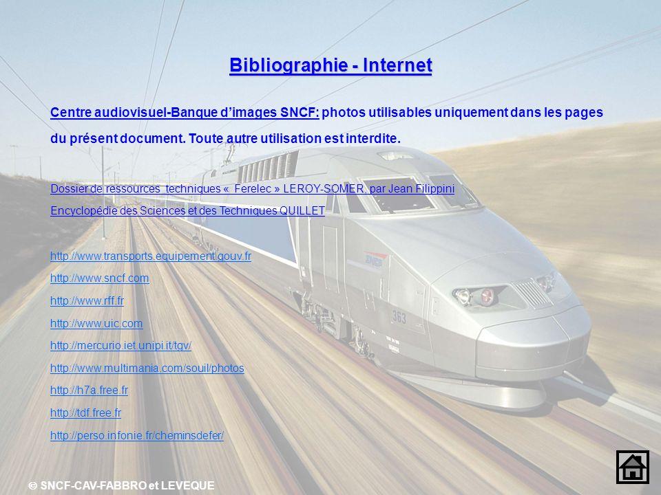 Bibliographie - Internet  SNCF-CAV-FABBRO et LEVEQUE