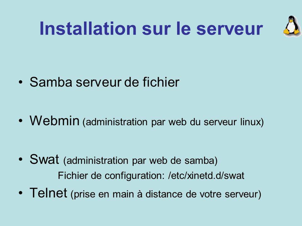 Installation sur le serveur