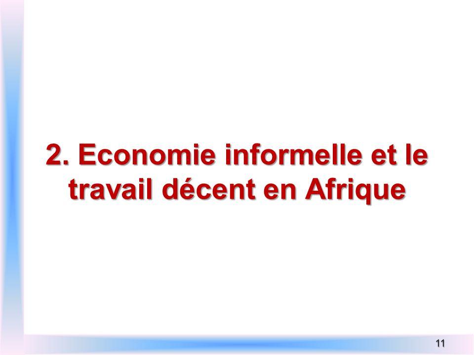 2. Economie informelle et le travail décent en Afrique