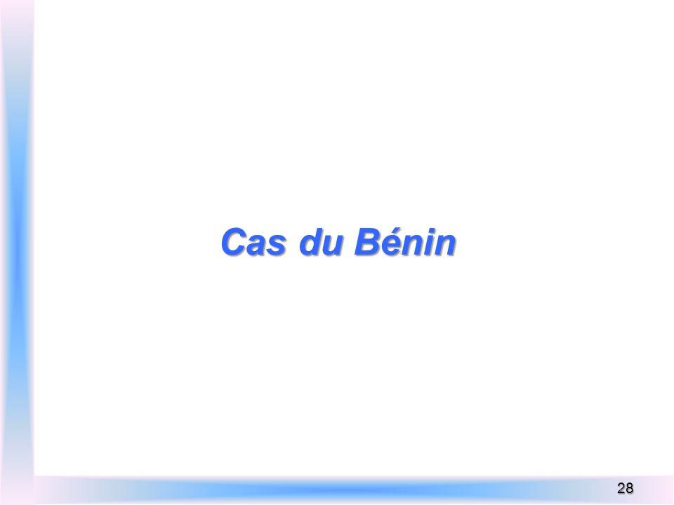 Cas du Bénin