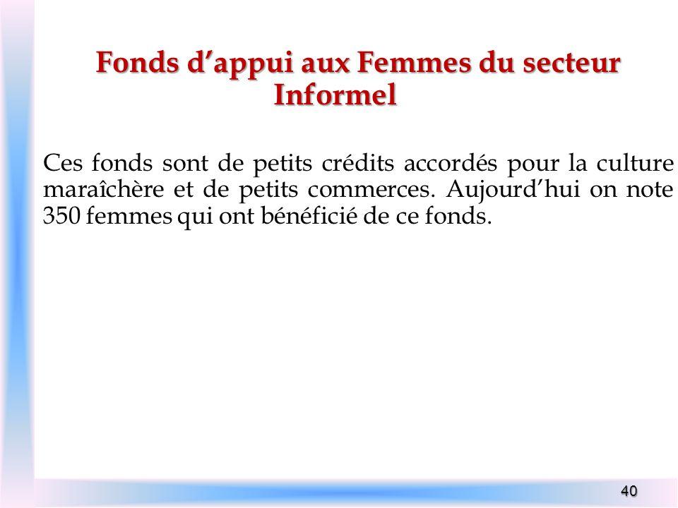 Fonds d'appui aux Femmes du secteur Informel