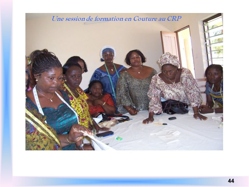 Une session de formation en Couture au CRP