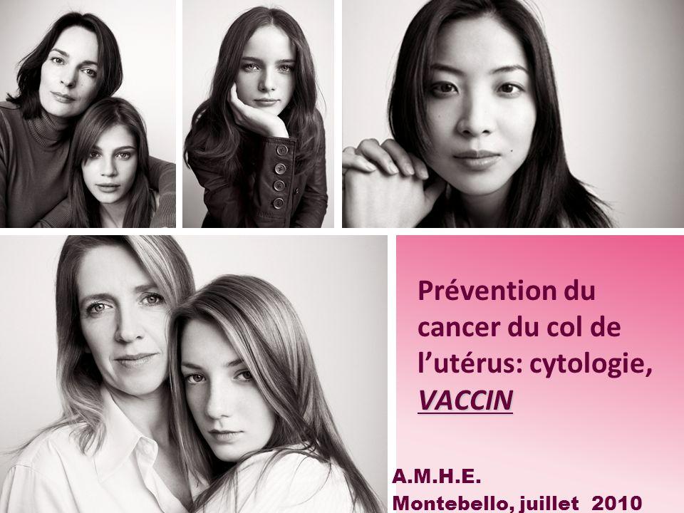 Prévention du cancer du col de l'utérus: cytologie, VACCIN